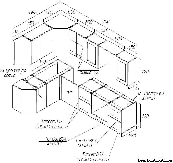 Описание: b>Угловые кухни
